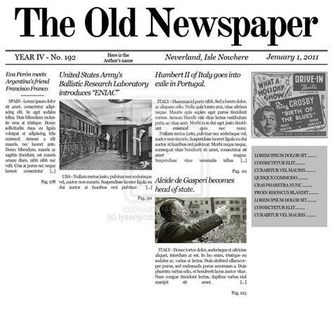 fashioned newspaper template free 10 best images of time newspaper newspaper