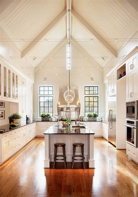 Kitchen Lighting Vaulted Ceiling Beautiful Spacious Kitchen Pictures Photos And Images For And