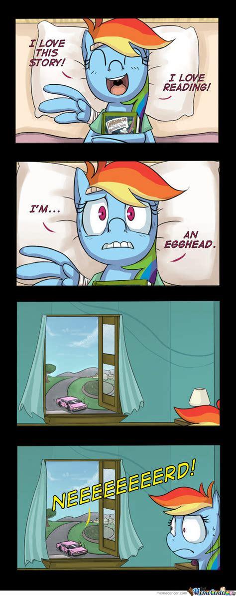 Mlp Rainbow Dash Meme - rainbow dash nnneeeeeerrrrdddddddddddddd by kingcutie