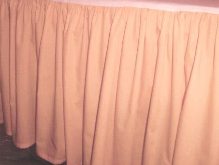 Solid Peach Colored Bedskirt (in all sizes from twin to