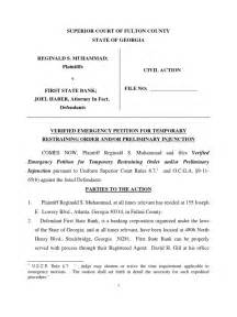 motion for temporary restraining order preliminary injunction