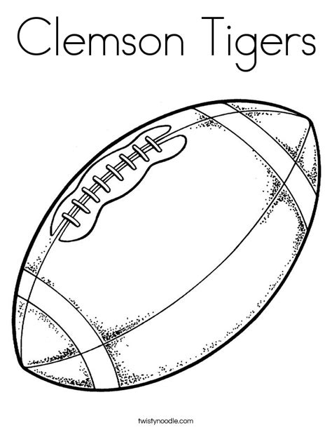 clemson tigers coloring pages cooloring com