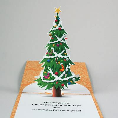 molly lee cards new christmas tree pop up card