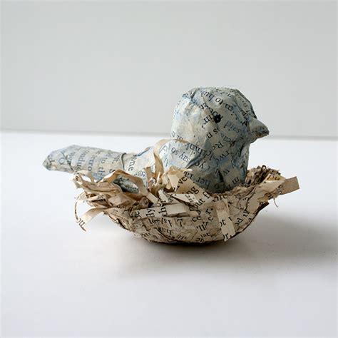 How To Make Paper Mache Birds - crafty challenge 7 paper mache tree with nesting bird