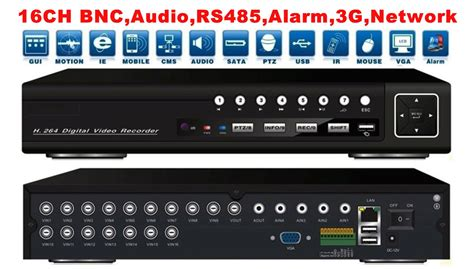 Dvr Cctv 16ch Spc free shipping 16 channel h 264 network cctv standalone dvr recorder rs485 audio alarm