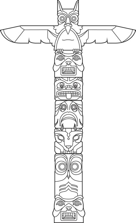 totem pole design template totem vector totem poles the white