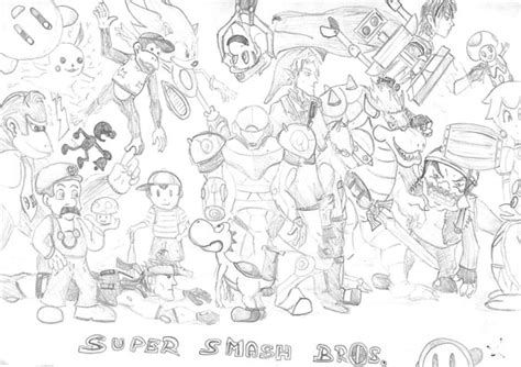 Super Smash Bros Brawl Free Coloring Pages Smash Bros Brawl Coloring Pages