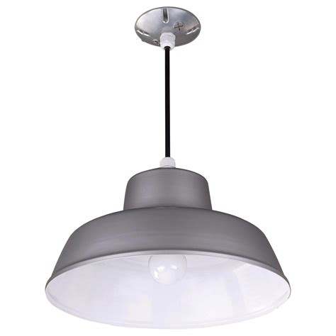 Barn Ceiling Lights Canarm Suspended Ceiling Barn Light 14 3 8in Dia 120 Volts 300 Watts Gray Model Bl14cl