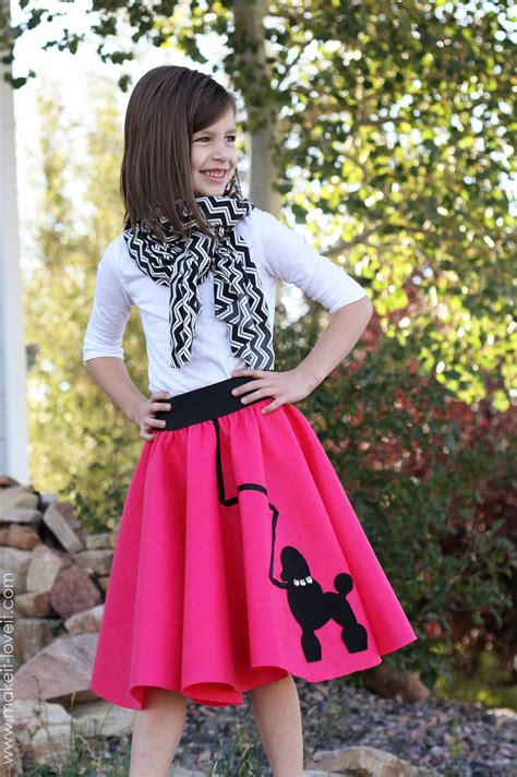 simple pattern for poodle skirt halloween costume ideas very low sew poodle skirt make
