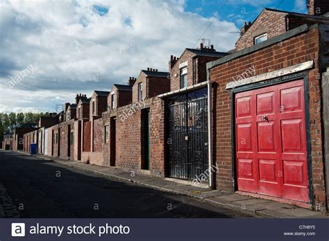 buy house in newcastle backstreet view of terraced houses in blyth near newcastle stock photo royalty free