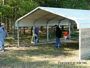 Closing In A Metal Carport How To Build A Barn Home Design Garden Architecture