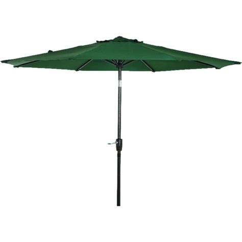 patio umbrella green 9 aluminum tilt crank umbrella green canopy