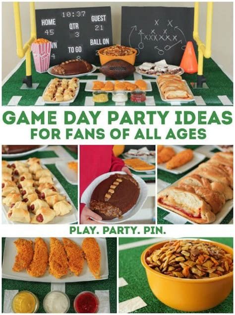 pretend party play super bowl appetizer ideas football party ideas