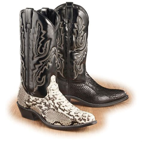 mens python boots s acme 174 python boots 73645 cowboy western boots
