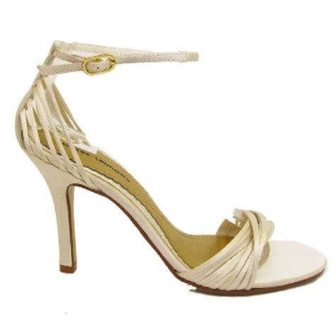 ivory strappy sandals wedding new ivory bridal wedding prom strappy sandals size 4 8 buy
