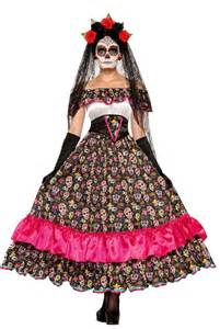 Day Of The Dead Costumes Day Of The Dead Spanish Lady Costume Dia De Los Muertos