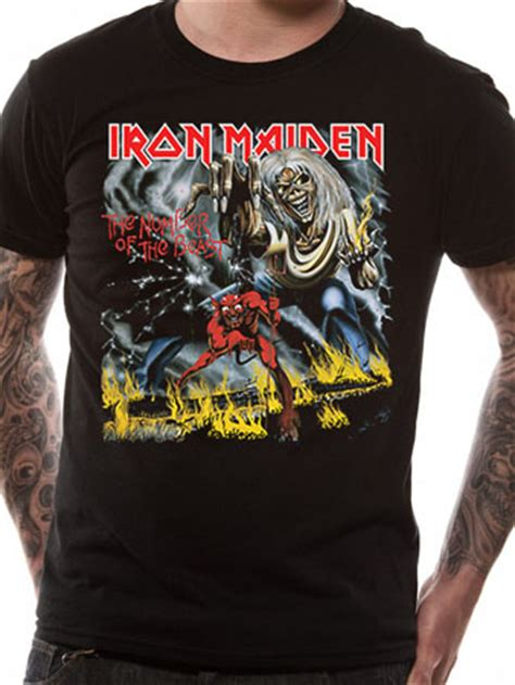 iron maiden number of the beast t shirt buy iron maiden
