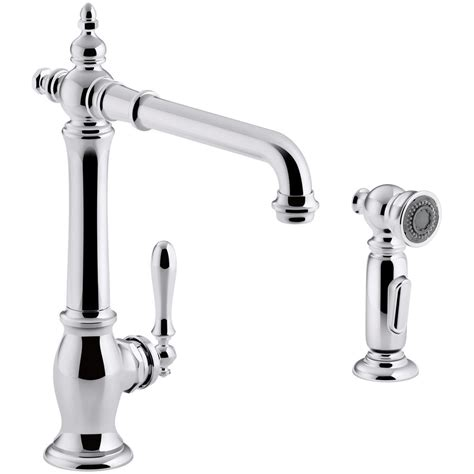 kohler single handle kitchen faucet kohler artifacts single handle standard kitchen faucet
