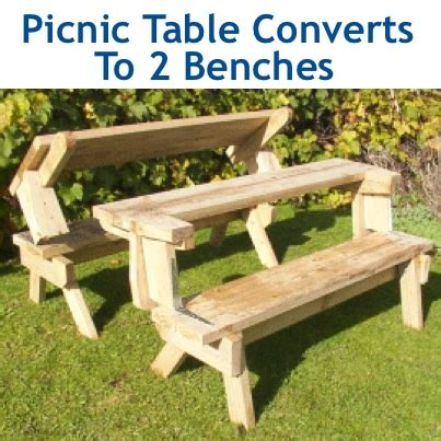 how to make a table bench how to make a wood picnic table that converts to two
