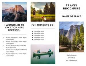 travel brochure templates free free travel brochure templates exles 8 free templates