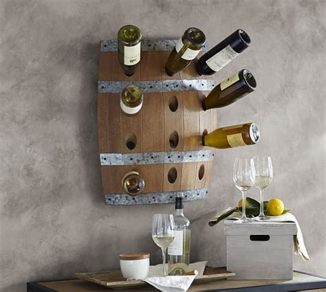 Pottery Barn Wine Rack Wall by Wine Barrel Wall Mount Wine Rack Pottery Barn
