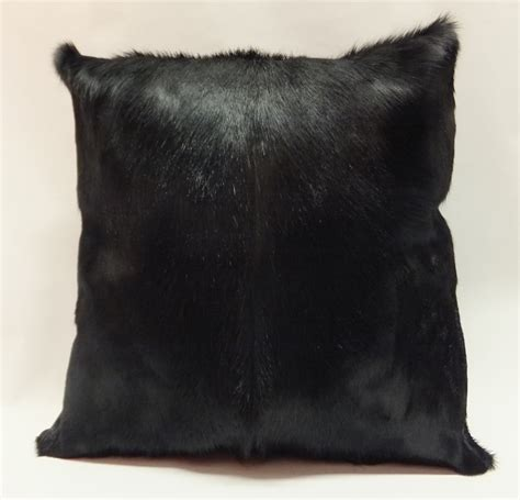 17 real south springbok fur pillow by
