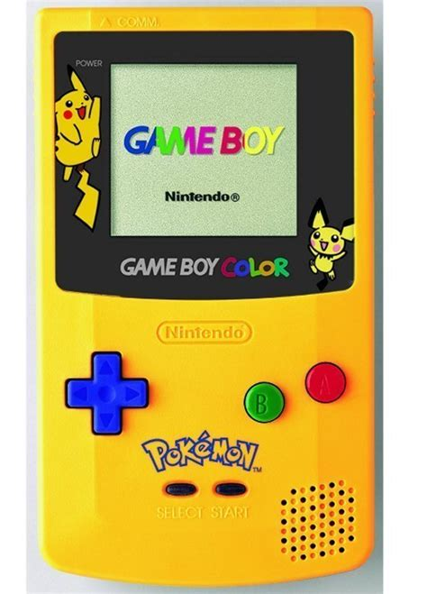 yellow gameboy color kakuna rattata