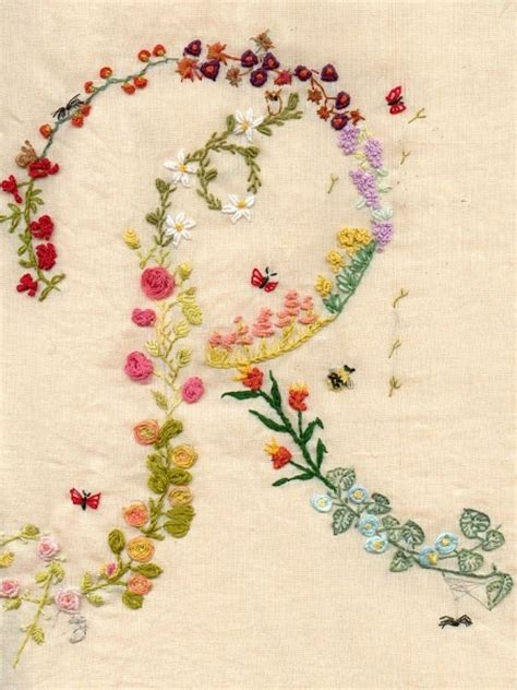 embroidery letters i like the idea of flowers and letters intertwined