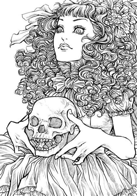 creepy coloring pages adults 17 best images about coloring pages on pinterest