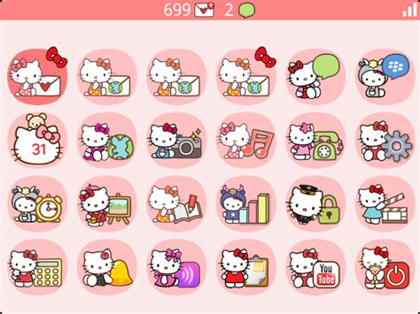 themes hello kitty blackberry premium bubble theme hello kitty edition blackberry
