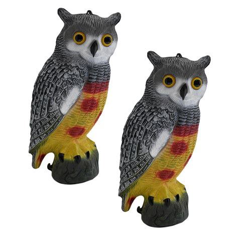decorative owls twin pack of decorative decoy owls pisces