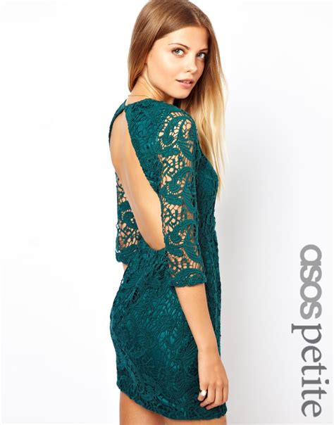 Asos Lace Back Courts by Lyst Asos Exclusive Crochet Shift Dress With Cut Out