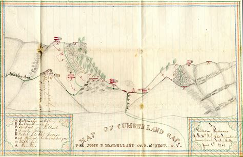 kentucky map cumberland gap official home page of the 16th ohio volunteer infantry