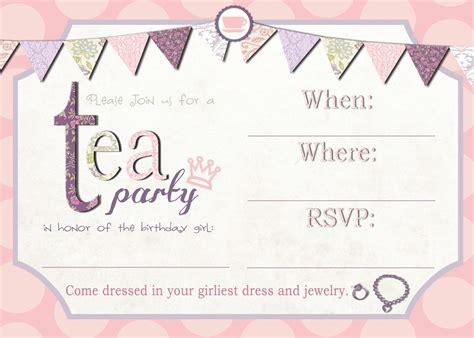 free tea party invitation template futureclim info