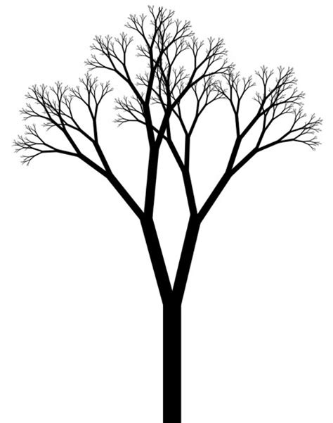simple drawing tree black and white tree drawing clipart best