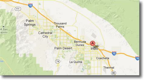 california map indio map of indio california california map