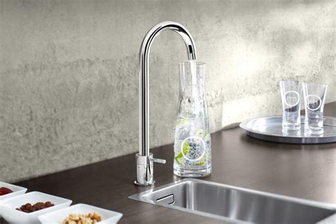 the new grohe blue home duo filtered sparkling water tap