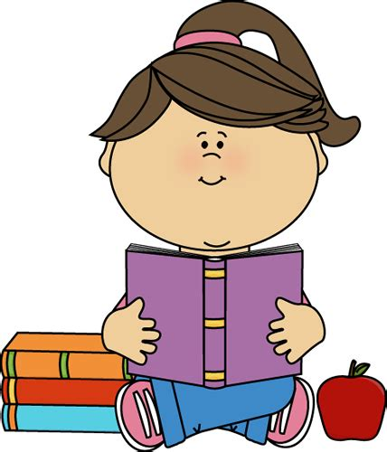 clip reading baby reading book clipart