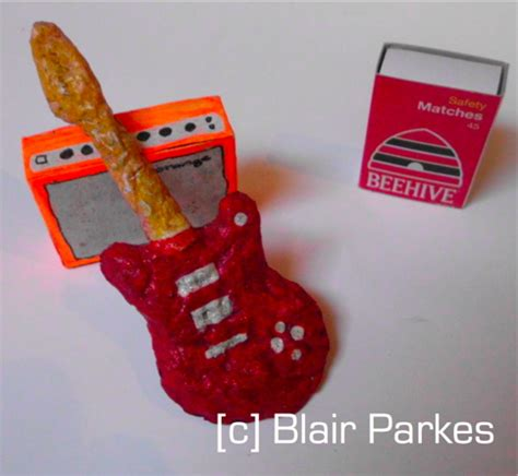 How To Make A Paper Mache Guitar - small sculpture blairparkes
