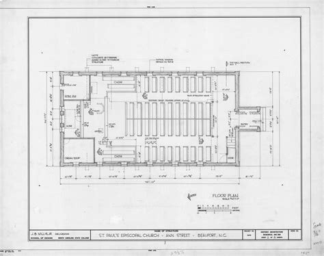 anglican church floor plan floor plan st paul s episcopal church beaufort north