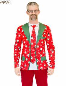 funny ugly christmas t shirts for men fake suit tuxedo blazer tie two pieces snowman merry xmas