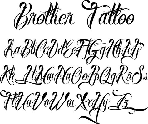 popular tattoo fonts 25 best ideas about lettering styles on