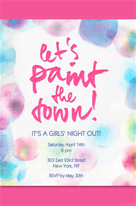 paint nite invite invitation ideas evite