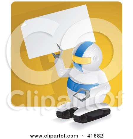 Wbs006 Yellow N Blue Vector 10 5cm Wall Border Sticker 10mx10 5cm 2 clipart illustration of a metal robot holding a wrench ready to make repairs a white