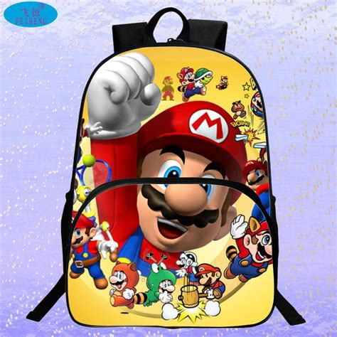 Supersale Kidsbag new 2017 sale children s 3d backpack cool mario school backpack for mario