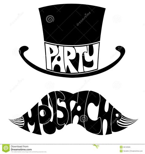 moustache stock images royalty free images vectors mustache and hat with text royalty free stock photo image 36122555