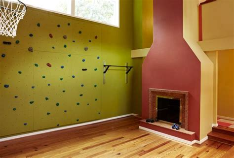 kids rooms climbing walls and contemporary schemes decorating a home gym in a contemporary style