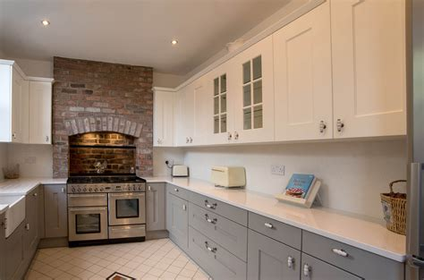 shaker kitchen white and grey shaker panorama kitchens