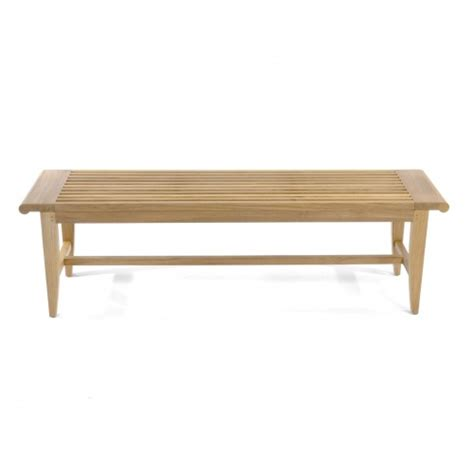 laguna bench laguna waterproof 5ft teak backless bench westminster
