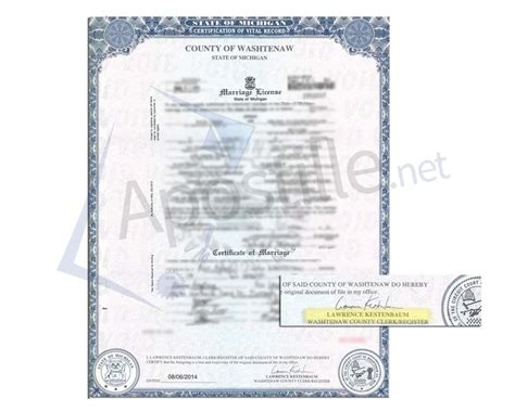 State Of Michigan Marriage Records 27 Best State Of Michigan Sle Apostille Images On Michigan Birth